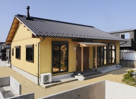 :::植田町S様邸新築工事暖炉のある和風住宅:::